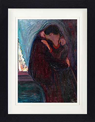 1art1 114294 Edvard Munch - Der Kuss, 1897 Gerahmtes Poster Für Fans Und Sammler 40 x 30 cm -