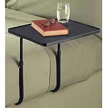 WE HOUSEWARE Mesa Auxiliar Plegable Lateral para la Cama portátil Ligera Altura Ajustable fácil de Montar