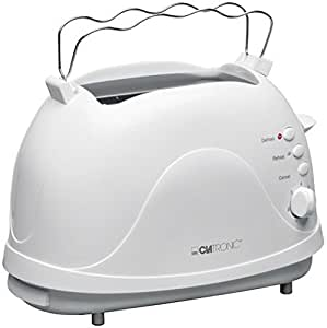clatronic 263089 ta 3287 2 scheiben toaster wei. Black Bedroom Furniture Sets. Home Design Ideas