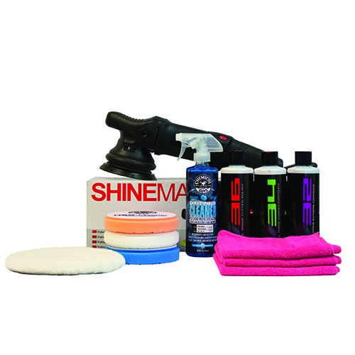 KRAUSS EXZENTER POLIERMASCHINE SHINEMASTER S15 POLISHING KIT (12 ITEMS)