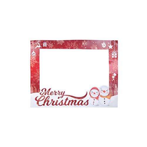BESTOYARD 3PCS Cornice di Carta per Selfie di Natale per Decorazioni Natalizia