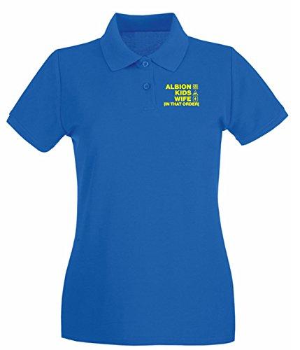 T-Shirtshock - Polo pour femme WC1257 burton-albion-kids-wife-order-tshirt design Bleu Royal