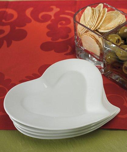 Teller in Herzform aus Porzellan