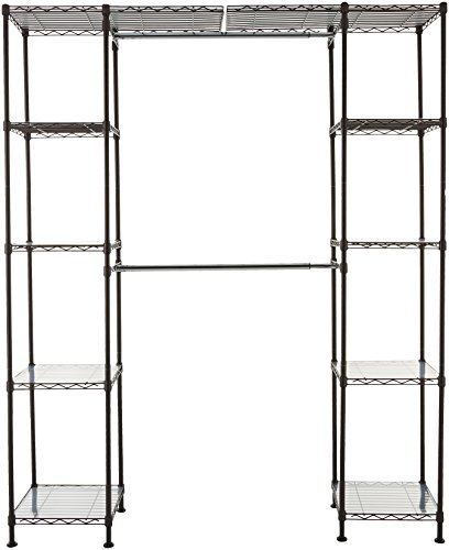 AmazonBasics Expandable Closet Organizer   14  x 58  Expands to 63  x 72 , Bronze