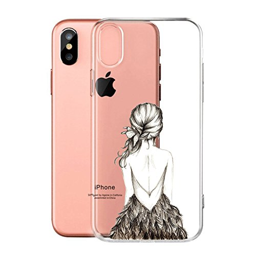 Per iPhone X Cover , YIGA Moda palloncino unicorno Cristallo Trasparente Silicone Morbido TPU Case Protezione Custodia per Apple iPhone X (5,8 pollici) WM3