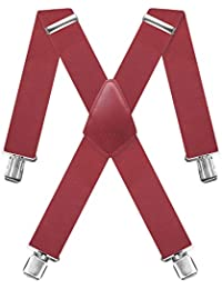 Decalen Hosentr/äger f/ür Herren die St/ärksten Hosentr/äger auf dem Markt Breite 4 cm mit 4 Metallclips Lange Einheitsgr/ö/ße Verstellbare und Elastische X-Form f/ür Alle M/änner