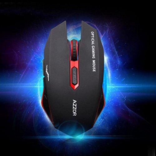 fulltime® azzor Z 2.4G Gaming Clavier sans fil et kit de souris avec Media Control Keys, 26x 98x 445mm (Clavier), noir 7