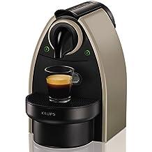 Nespresso Essenza XN 2140, cafetera de cápsulas, 19 bares, Krups, ligera, color tierra
