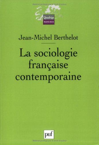 La Sociologie franaise contemporaine