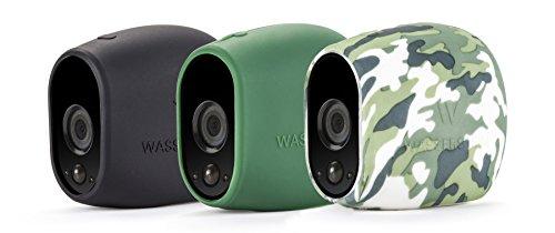 3 x Silikon Skins für Arlo Smart Home Security 100% WiFi Kameras - von Wasserstein (schwarz/grün/Camouflage) Ge-wireless-kamera