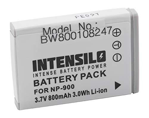 INTENSILO Li-Ion Akku 800mAh (3.7V) für Kamera Camcorder Video Rollei Compactline 82, 82SE, 103, 110, 203 wie NP-900, Li-80B. 103 Video