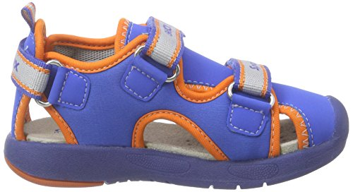 Geox B Sandal Multy Boy B, Scarpe Walking Baby Bambino Blu (royal/orange)
