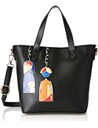 global desi Fashion Women's Satchel (Black)
