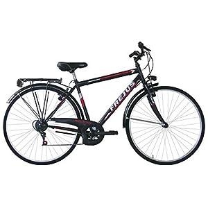 41lVmq99W6L. SS300 Frejus, City Bike Uomo Men's, Nero, L
