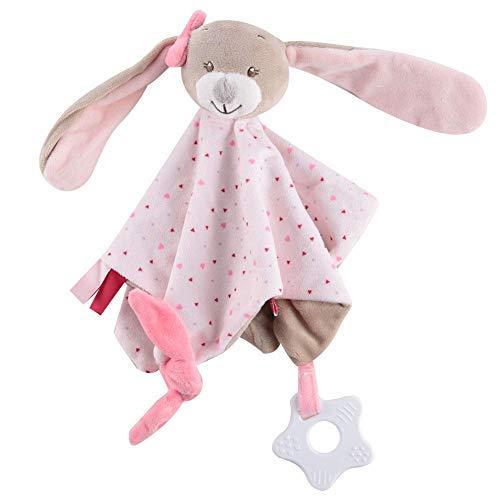 Straccetti Duoduo Bambino Comfort Coperta Accogliente Peluche Morbido Carino Asciugamano per Teether Sicurezza Calmante che Dorme Neonato Accompagnare Bambole Ragazzo Ragazza Regalo (Rabbit)