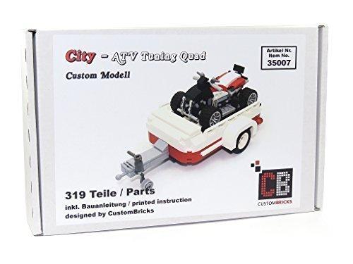 CB CustomBricks ATV Tuning Quad mit Anhänger für z.B. 10220 T1 aus LEGO® Steinen (Anhängevorrichtung Atv)