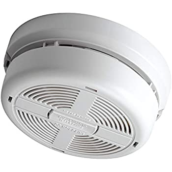 BRK 7010BE Optical Smoke Alarm, Mains Powered with 9 V