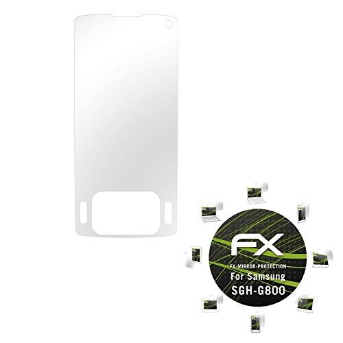 Samsung SGH-G800 Spiegelfolie - atFoliX FX-Mirror Displayschutz mit Spiegeleffekt