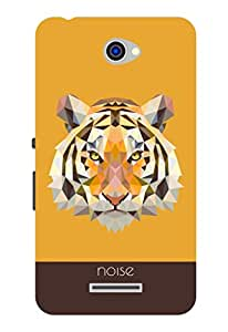 Noise Crystal Tiger Blue Printed Cover for Sony Xperia E4