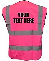 Custom Printed High Visibility Childrens Hi Vis Viz Vest Safety Waistcoat All Colours & Sizes