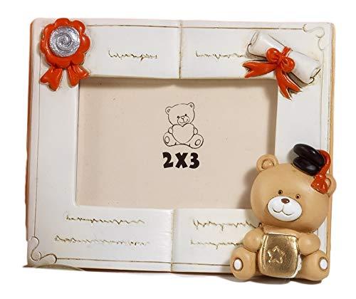 Paben 4 pezzi bomboniera laurea, portafoto orsetto, 10,3 cm, in resina, by