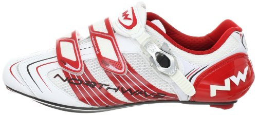 Northwave Evolution SBS de Course Chaussures Blanc/rouge