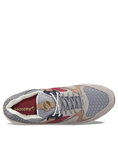 Sneaker Saucony Grid 9000 The Liberty Pack in suede grigia Grey