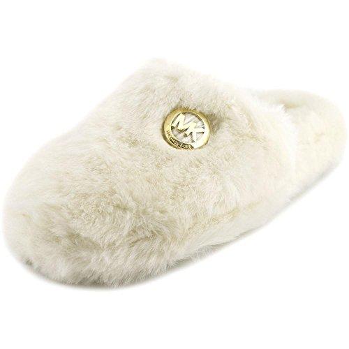 Michael Michael Kors Jet Set MK Fur Donna US 11 Bianco Pantofole
