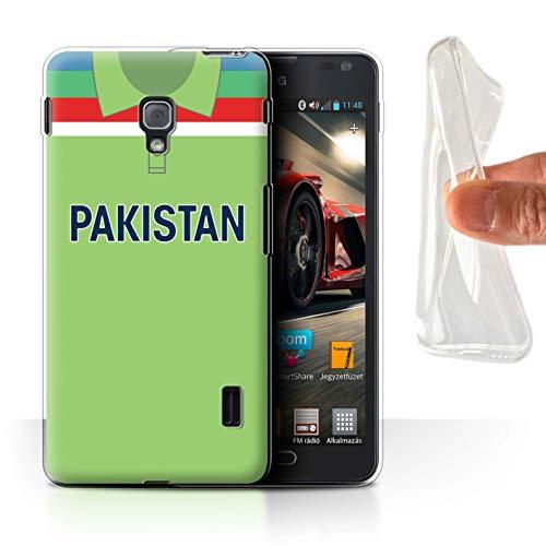 eSwish Gel TPU Hülle/Case für LG Optimus F6 / Pakistan/Pakistanisch Muster/Retro Cricket Weltmeisterschaft 1992 Kollektion