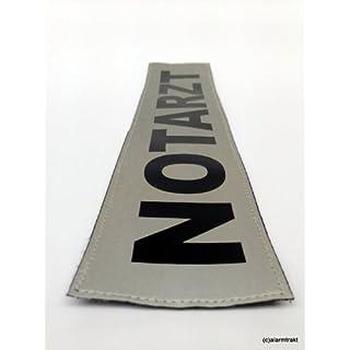NOTARZT 3M Rückenschild 42x8cm matt silber