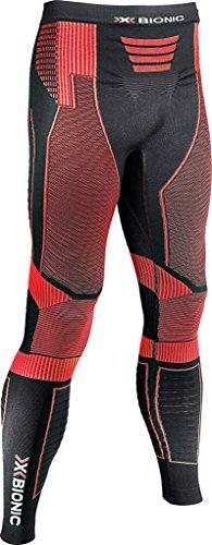 X-Bionic Herren Running Man EFFEKTOR Power OW Pants Long Laufhose, Black/Red, M -