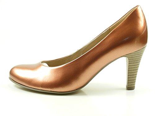 Gabor 65-210 Schuhe Damen Lack Pumps Weite F , Schuhgröße:38.5;Farbe:Braun