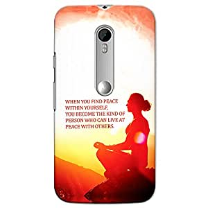 CrazyInk Premium 3D Back Cover for Moto G3 Turbo - Find Peace