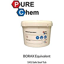Trade Chemicals Borax Equivalent Moisture Free 1Kg Tub - Cleaner, Water Softener, Makes Slime
