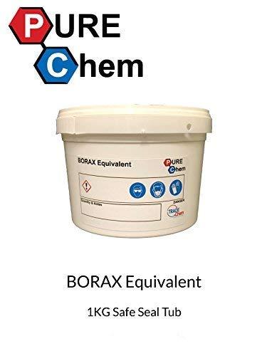 Trade Chemicals Borax Equivalente Humedad Gratis 1Kg Tina- Limpiador, Descalcificador, Hace Slime