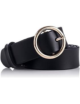 GAXmi Cintura di Pelle per Donne Le Signore Cinture Sottili per Jeans / Vestito con Fibbia rotonda