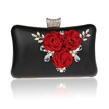 Frauen elegante Hochwertige Luxus Blume Abend Tasche Black