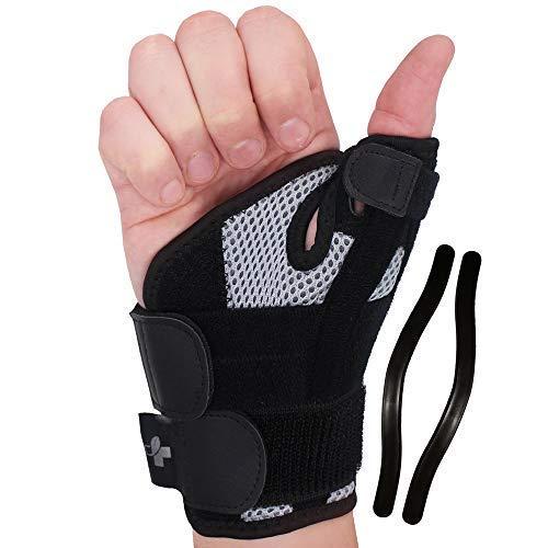 YOGAMEDIC® Daumenbandage Daumenschiene rechts & links - Stabilisierende Schiene für Entlastung des Handgelenks bei Verletzungen und Sehnenscheidenentzündung -