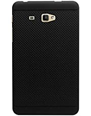 KANICT Dotted Finished Soft Skin Rubbersied Back Case Cover for Samsung Galaxy J Max/T285 T280 Tablet (Black)