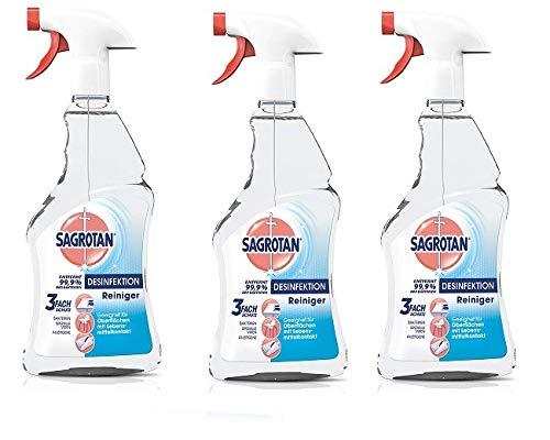 - Haut-reiniger-spray-flasche (Sagrotan Desinfektions-Reiniger - Desinfektionsmittel für die tägliche, sanfte Reinigung - 3 x 500 ml Sprühflasche mit neuem Sprühkopf im Vorteilspack)