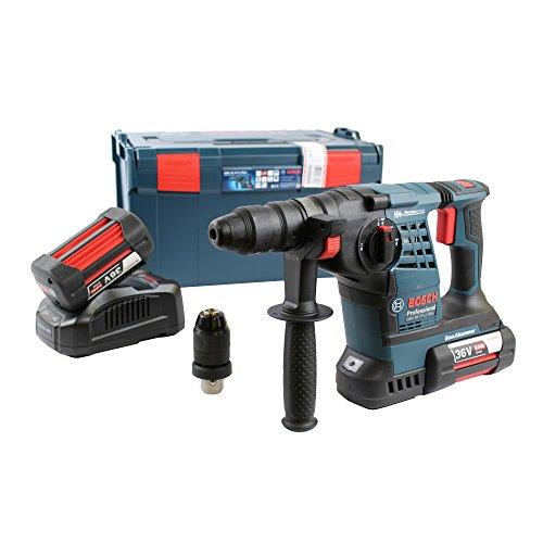Bosch Akku-Schlagbohrhammer GBH 36 VF-LI Plus | mit 2 x 6 |0 Ah Li-Ion Akku | L-BOXX