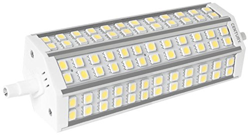 Jahrhundert exa-151840EXA Flache LED, 189mm LED R7S Fassung, 15W, 4000K, 1400lm, Kunststoff, weiß
