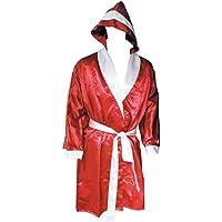 Boxer abrigo con capucha de satén rojo _ blanco, rot_weiss