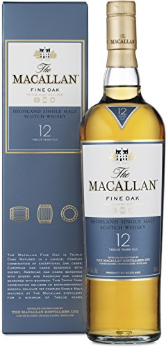 Macallan Highland Single Malt Scotch Whiskey Fine Oak 12 Jahre (1 x 0.7 l)