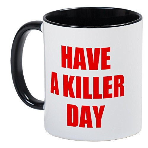 CafePress Dexter 's have a Killer Day - Einzigartige Kaffee Tasse, Kaffeetasse, Small White/Black Inside