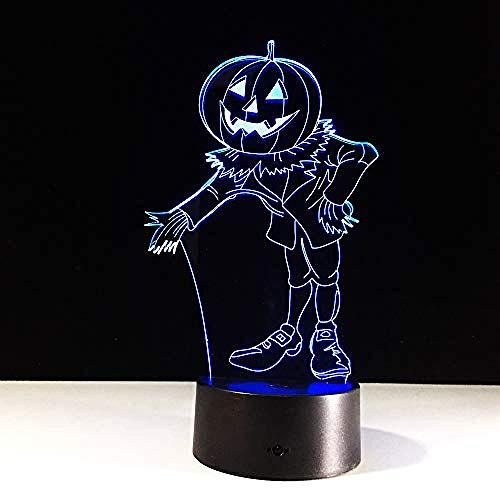 MRYWYLCK Halloween Kostüm Kürbis 3D Nachtlicht LED Hauptlicht Baby Schlaf Beleuchtung (Einfaches Hai Kostüm)