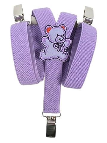Bretelles entièrement réglable pour Bébés 0-2 ans avec Ours En Peluche conception - Lilas