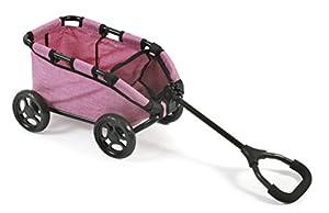 Bayer Chic 200066070-zieh Carro Skipper, Carro de Mano para muñecas o Osos, Jeans Pink