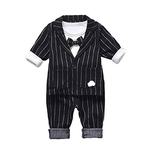 1 TLG Baby Strampler Smoking für Jungen Kleidung Body Kleidung Gentleman Baby Junge Anzüge 3 Stück Set Langarm Shirt + Sakko + Hose ✨LANSKIRT
