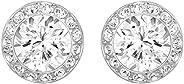 Swarovski Women's Angelic Pierced Earrings, White, Rhodium plated, Me